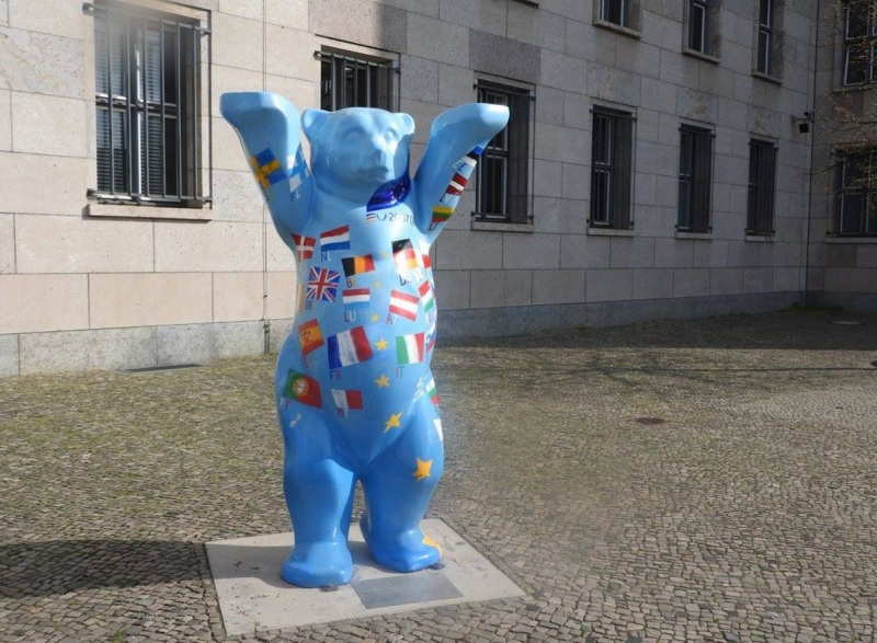 The bear mascot in Berlin.