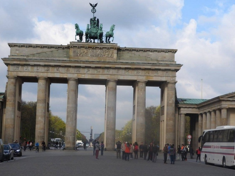 The Brandenburg Gate in Berlin.