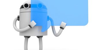Dialogs, buttons, and menus make bots more productive