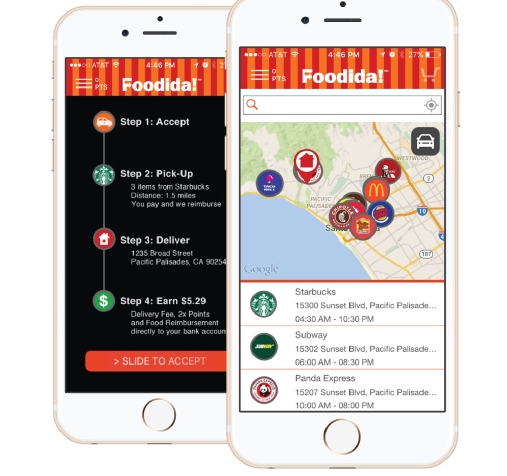 Foodida is counting on densely packed neighborhoods for fast delivery.