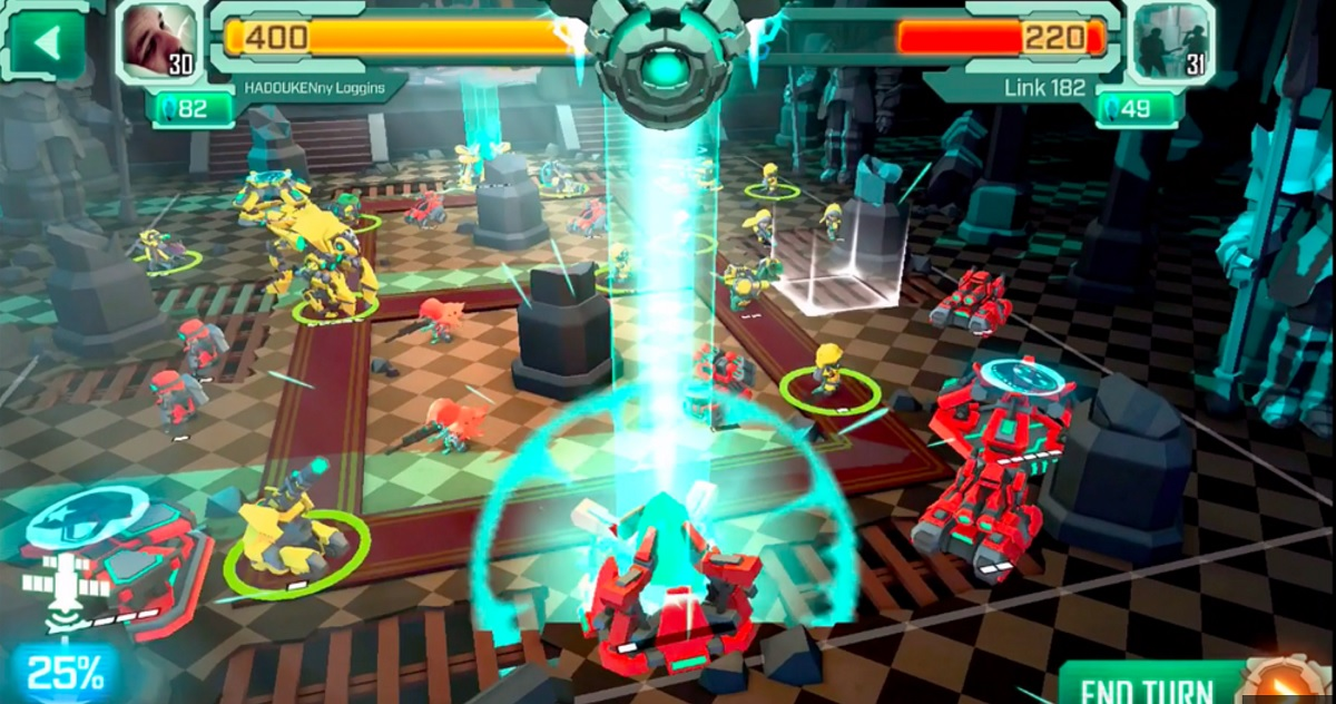 Turbo's Super Senso mech-strategy game.