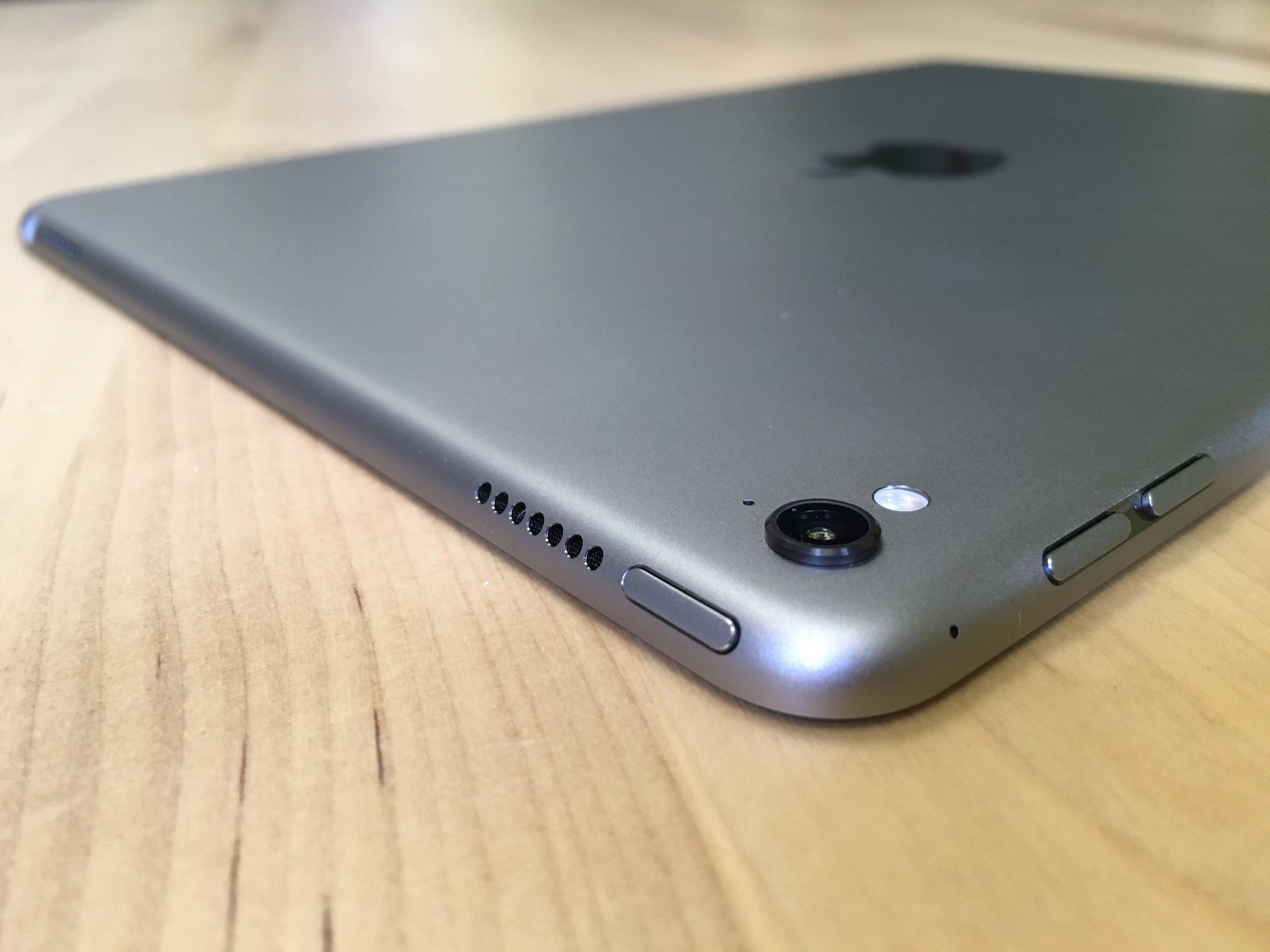 The camera bump on the 9.7-inch iPad Pro.