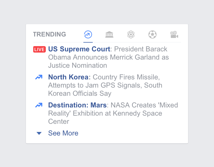 Facebook Trending Topics with Live Videos