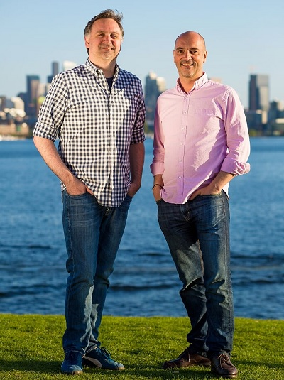 Loook founders John Howard (left) and Sebastien Motte.