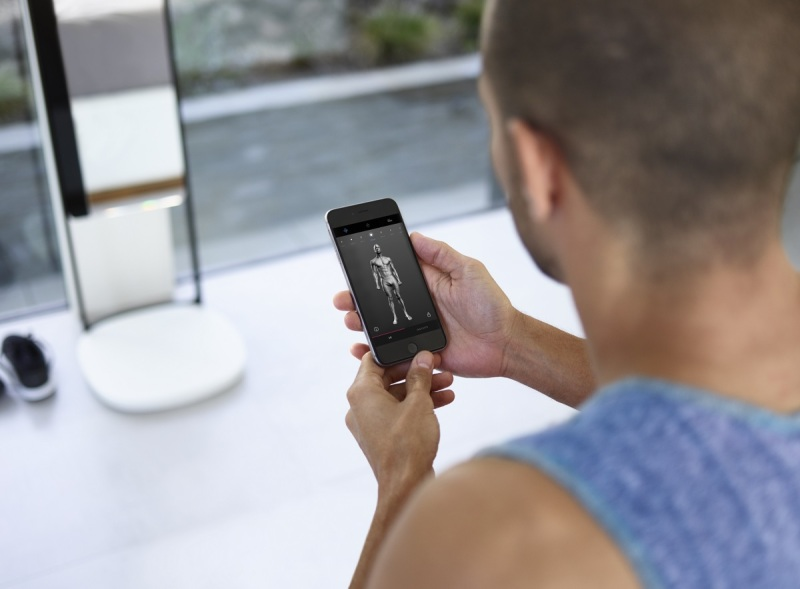 A companion app shows what your scanned body looks like.