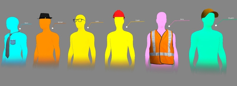Avatars for Microsoft HoloLens project.