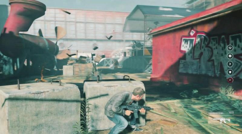 Hiding in cover in Quantum Break.