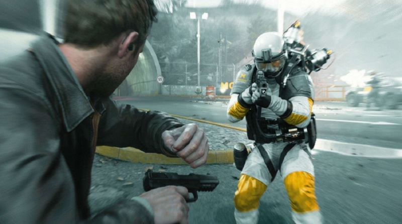 Quantum Break Strikers can zoom around the battlefield in an instant.