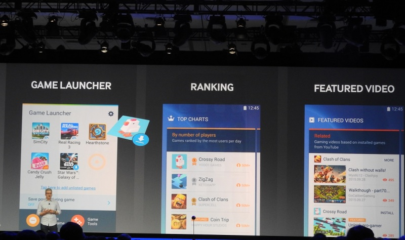 Samsung's user interface will help games take off better.