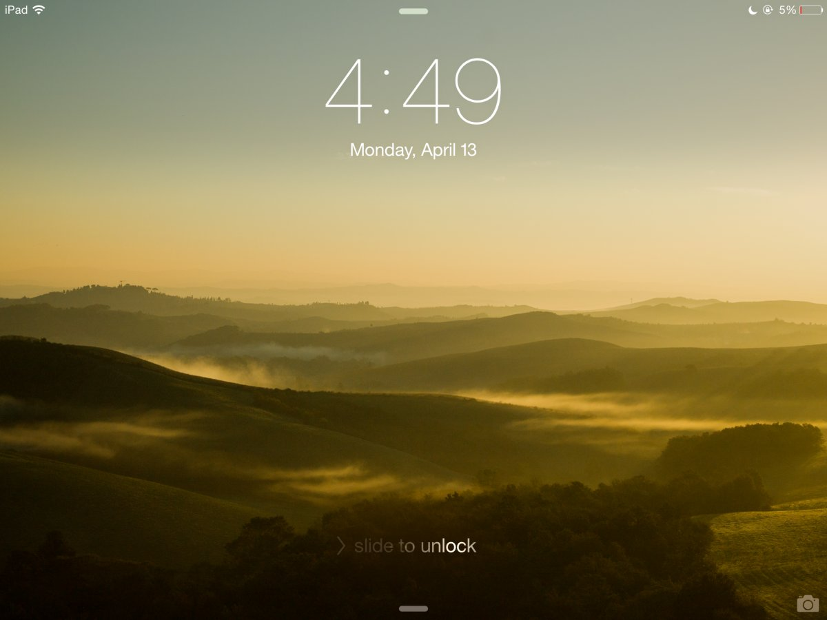 iOS lockscreen