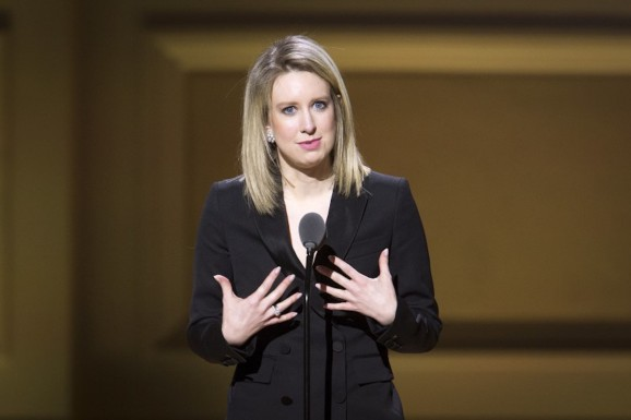 Theranos CEO Elizabeth Holmes speaks on stage at the Glamour Women of the Year Awards where she received an award, in the Manhattan borough of New York November 9, 2015.