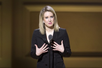 Theranos CEO Elizabeth Holmes speaks on stage at the Glamour Women of the Year Awards where she received an award, in the Manhattan borough of New York November 9, 2015. REUTERS/Carlo Allegri