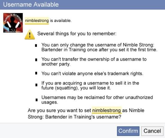 username message