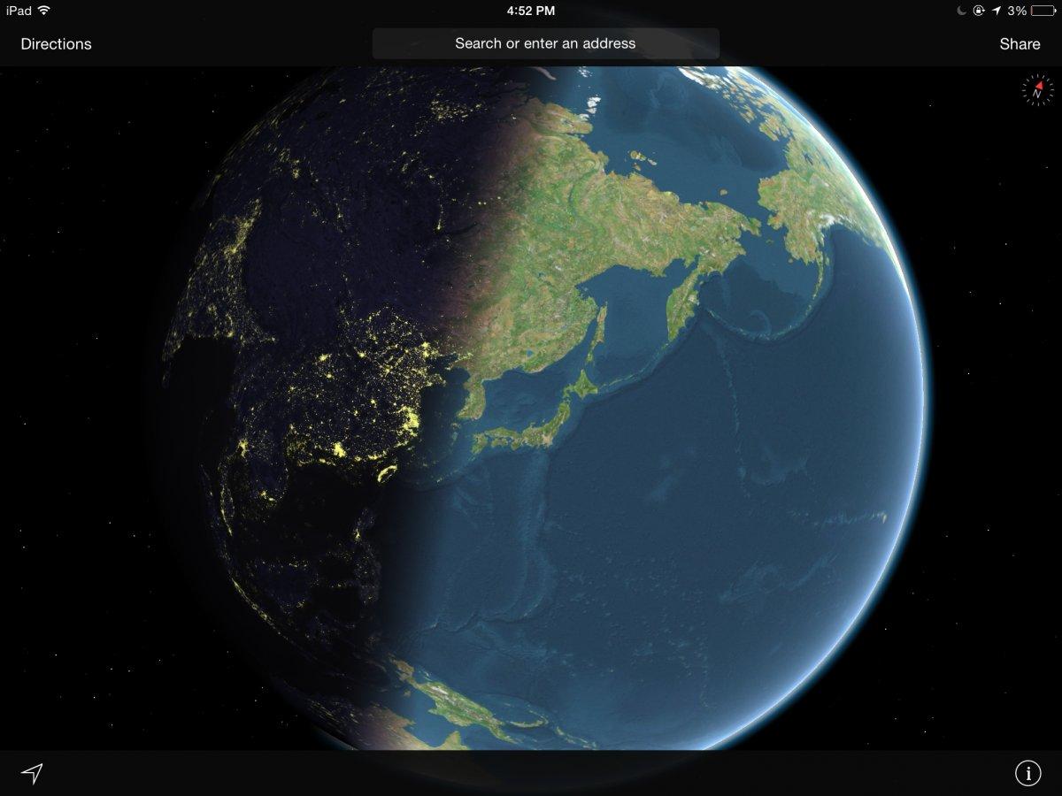 Apple's Maps app.