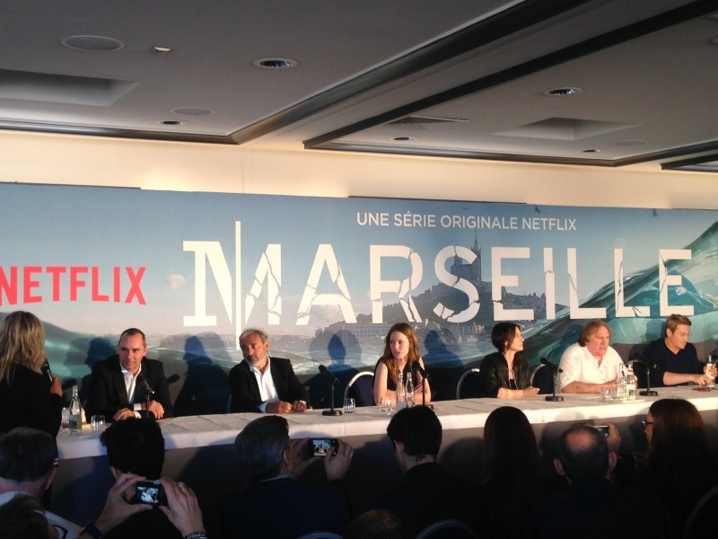 "The cast and producers of ""Marseille"" meet the French media."