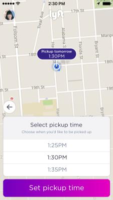 Lyft scheduled ride pickup