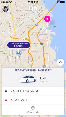 Lyft scheduled ride