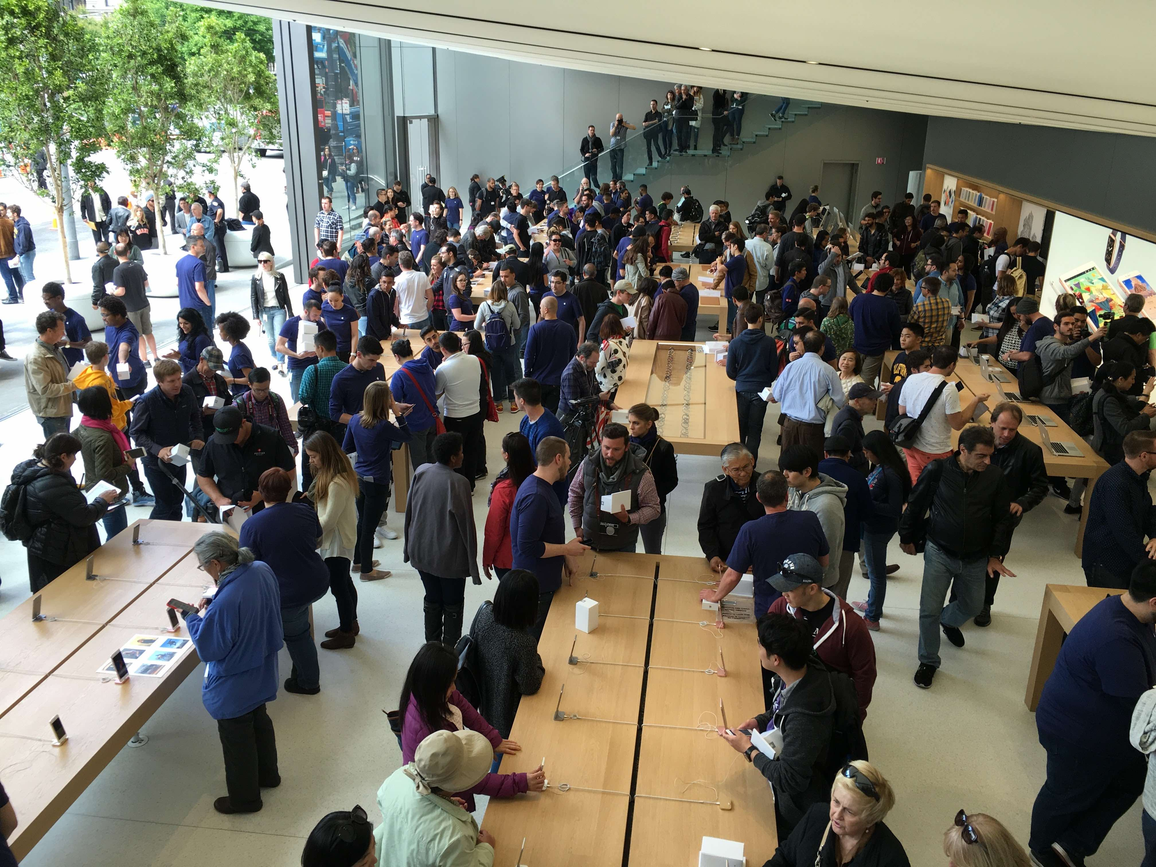 Apple Union Square now has more than 150 employees working at the store, Apple says.
