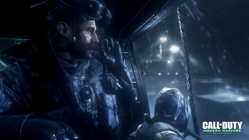 Call of Duty: Modern Warfare Remastered features characters like Soap.