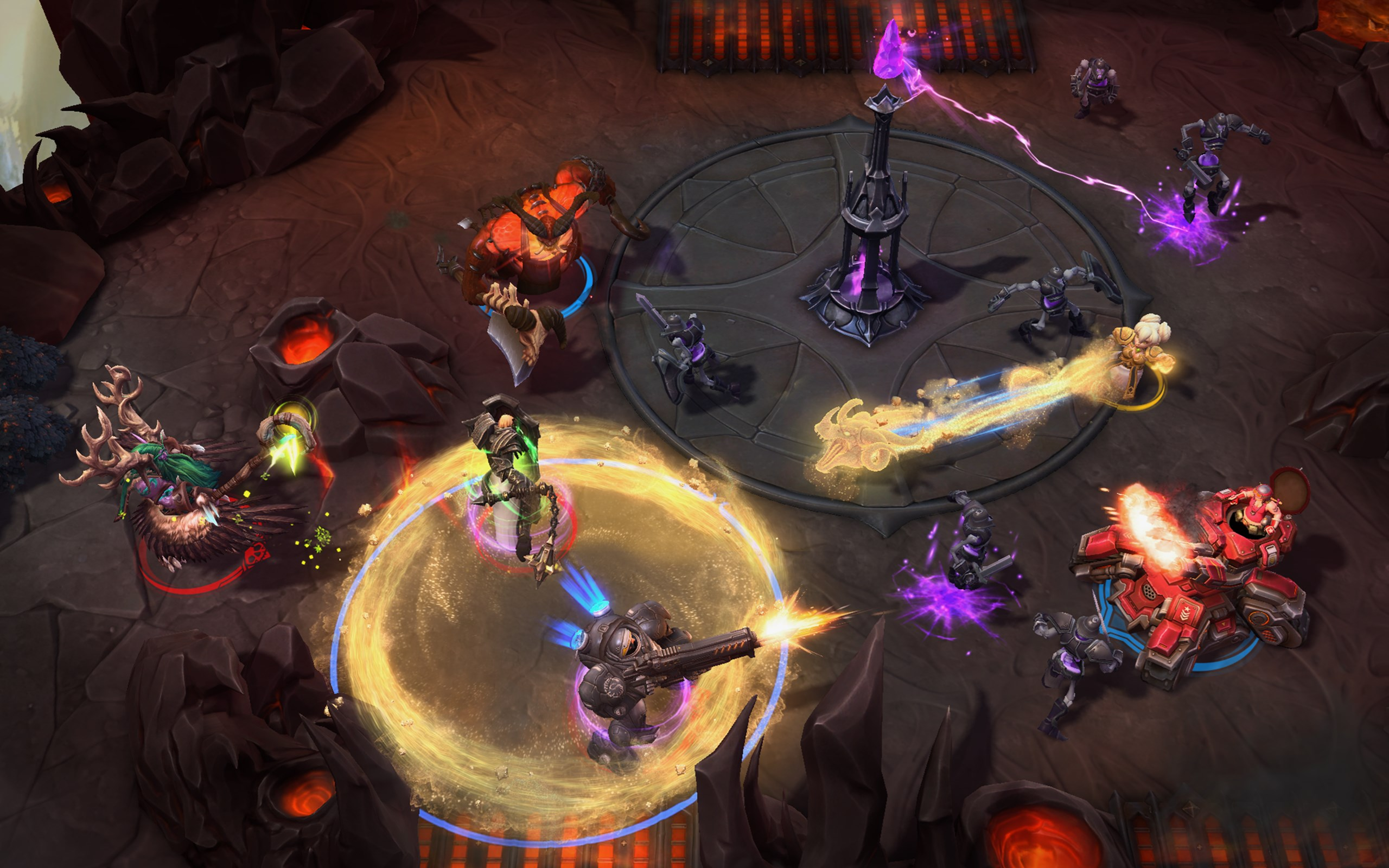 One of HotS's newest characters, Chromie, in action.