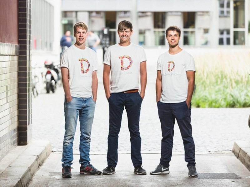Dubsmash founders: Jonas Drüppel, Daniel Taschik. and Roland Grenke