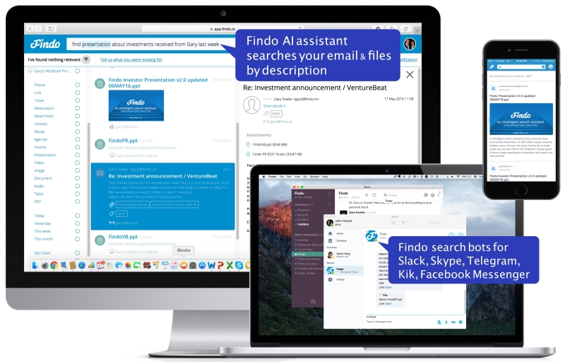Findo: Across platforms