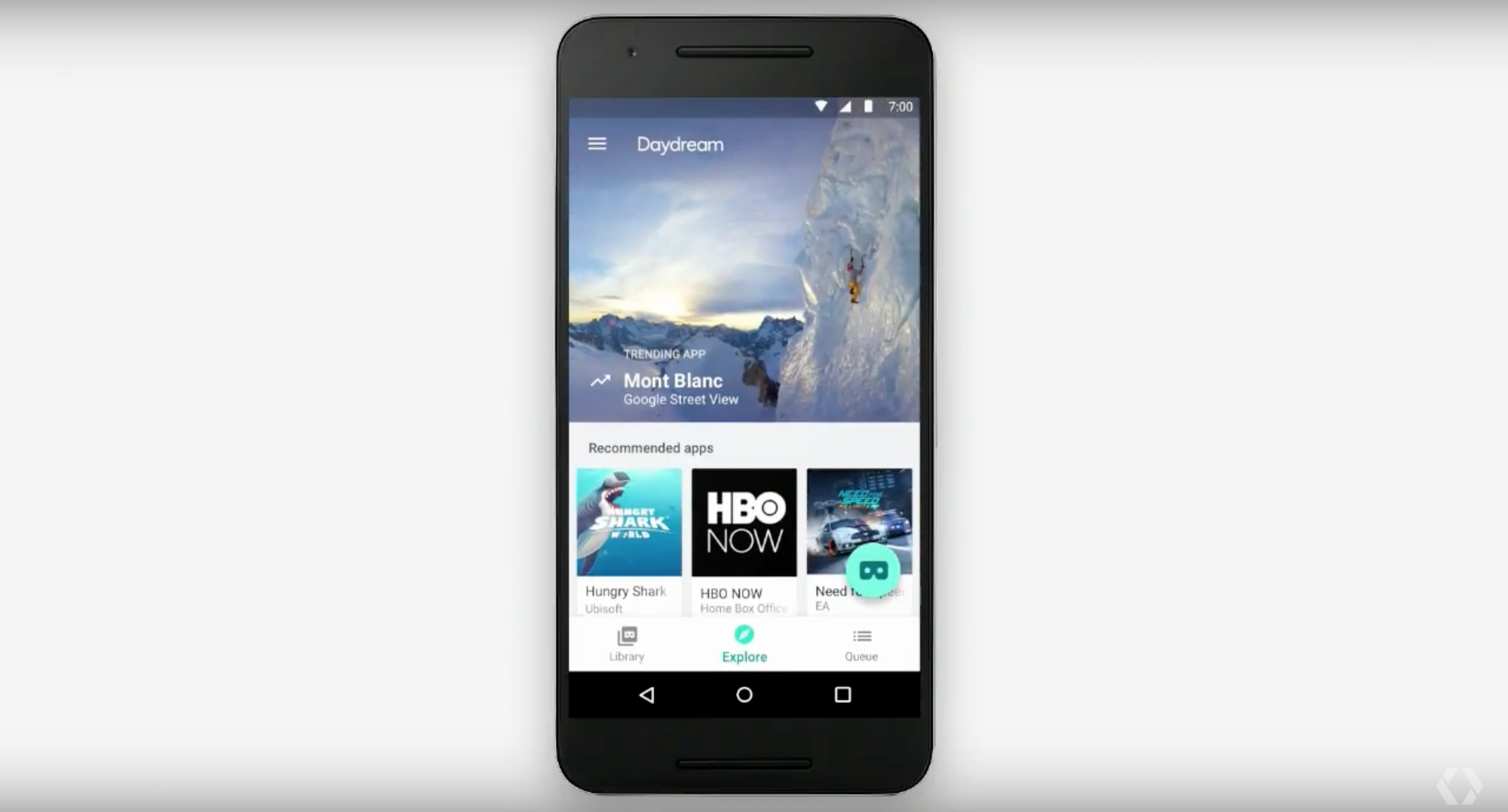 Google's Daydream VR app for Android.
