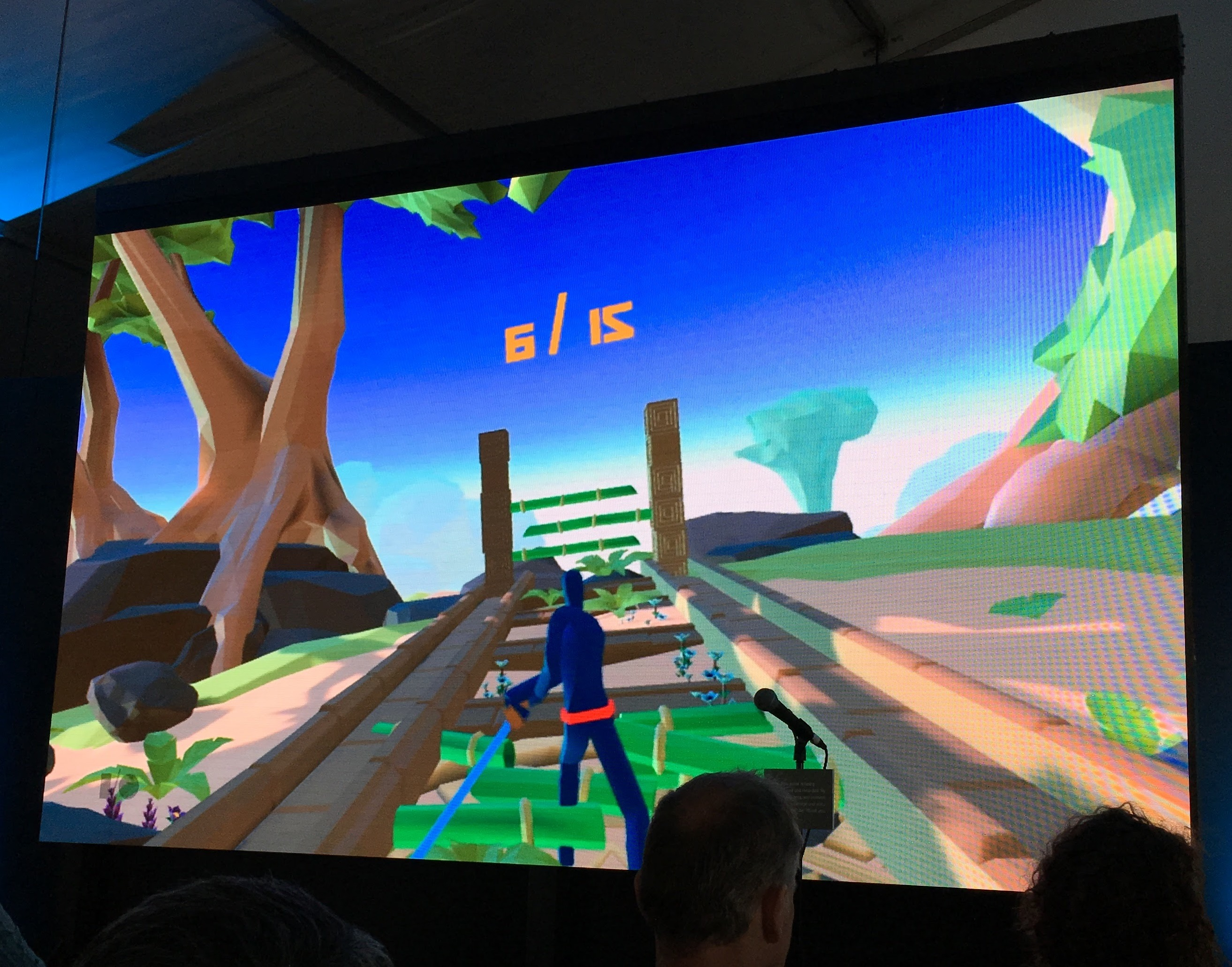 A game involving a ninja that Schell Games developed for Google Daydream.