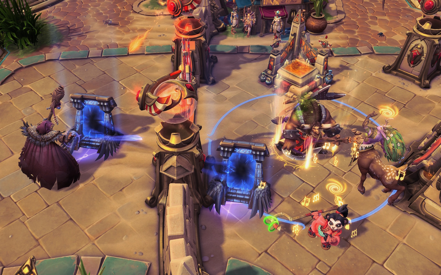 Wrecking buildings in Heroes of the Storm.