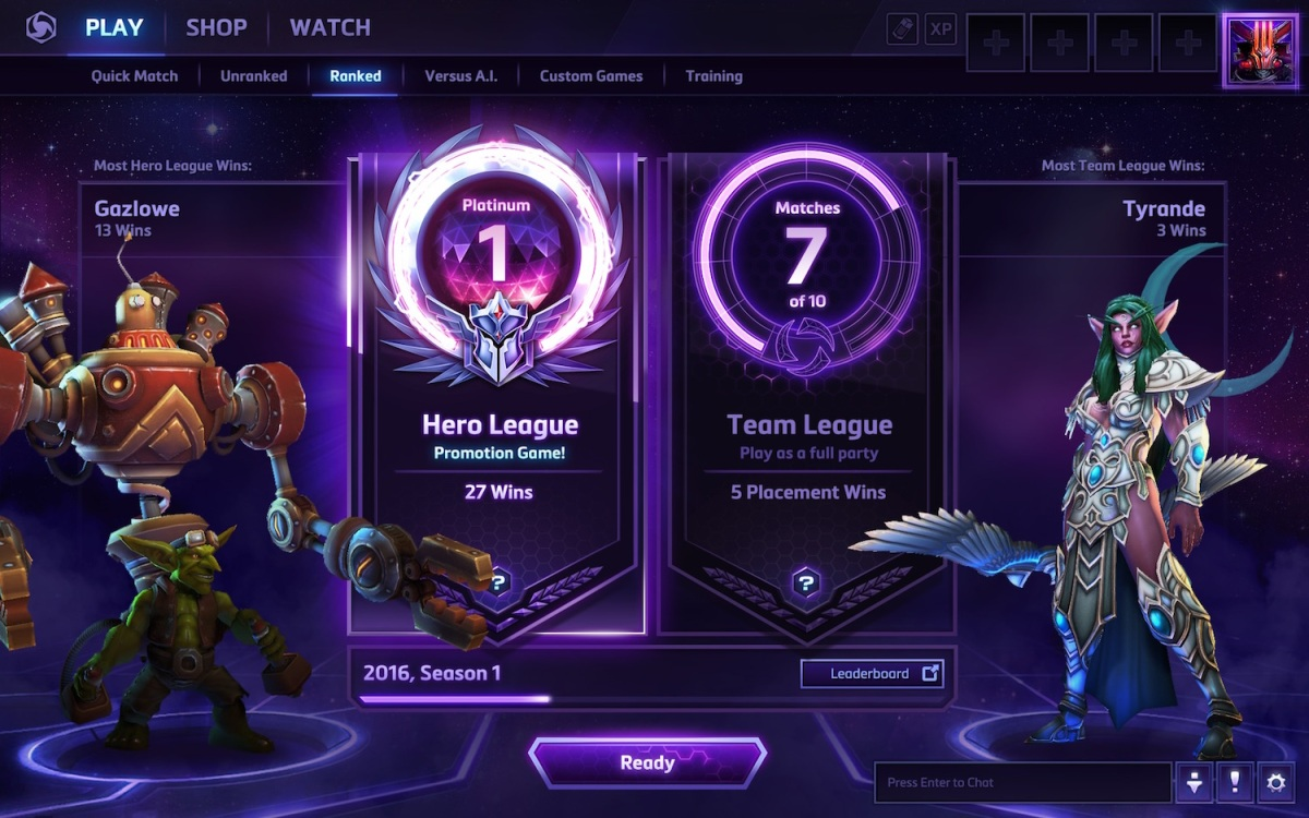 Heroes of the Storm Ranked Play changes