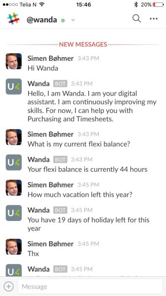Wanda in Slack.