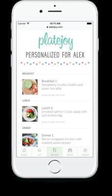 PlateJoy iPhone app