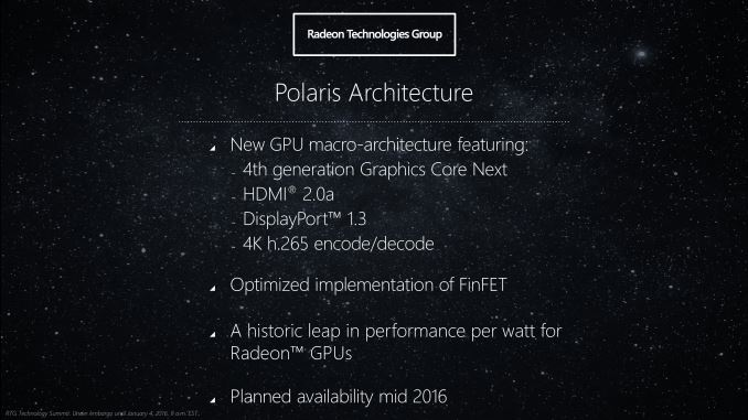 AMD's Polaris chips are less power hungry and produce less heat.