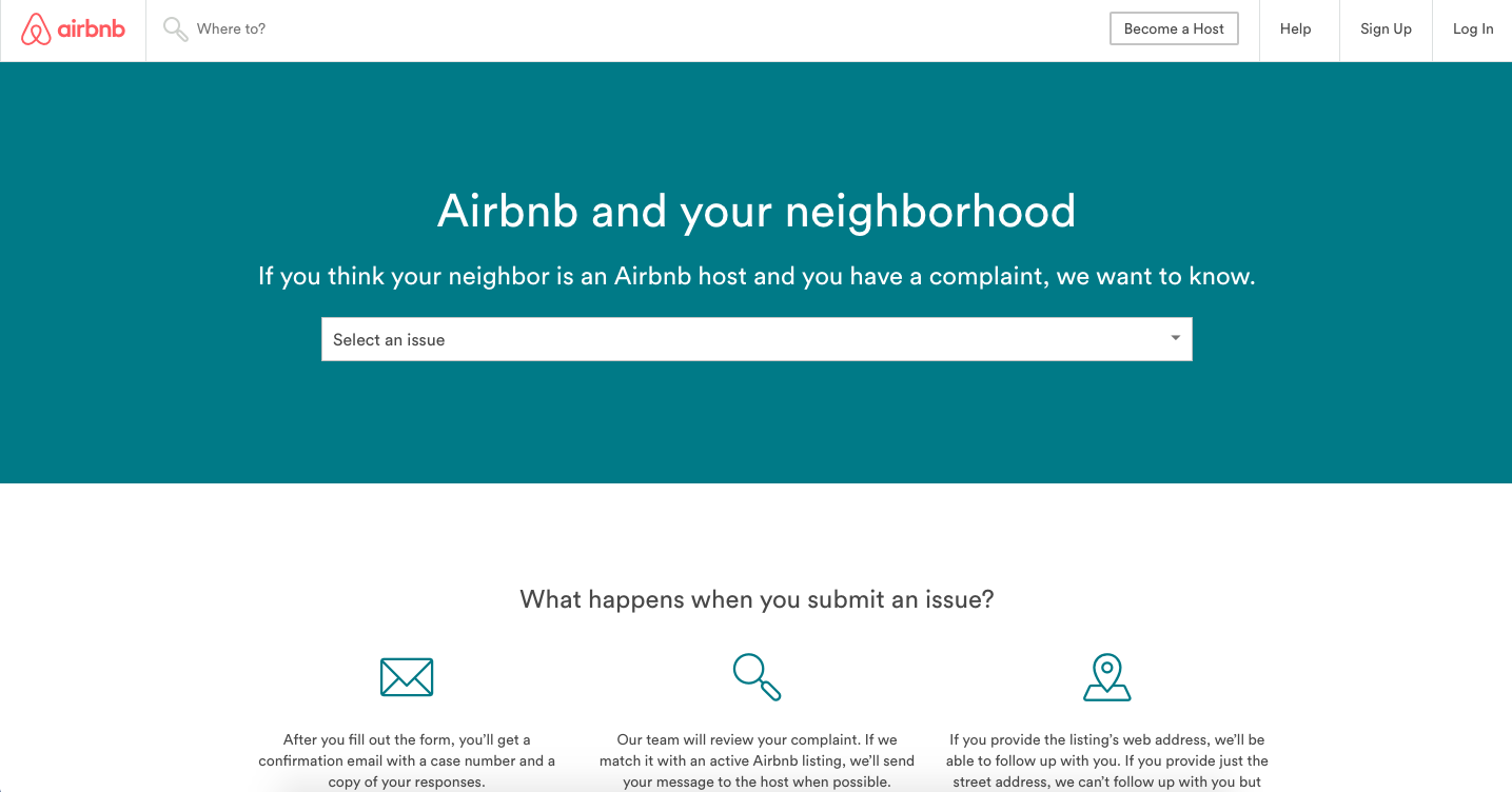 Airbnb's new site lets neighbors complain about noisy guests
