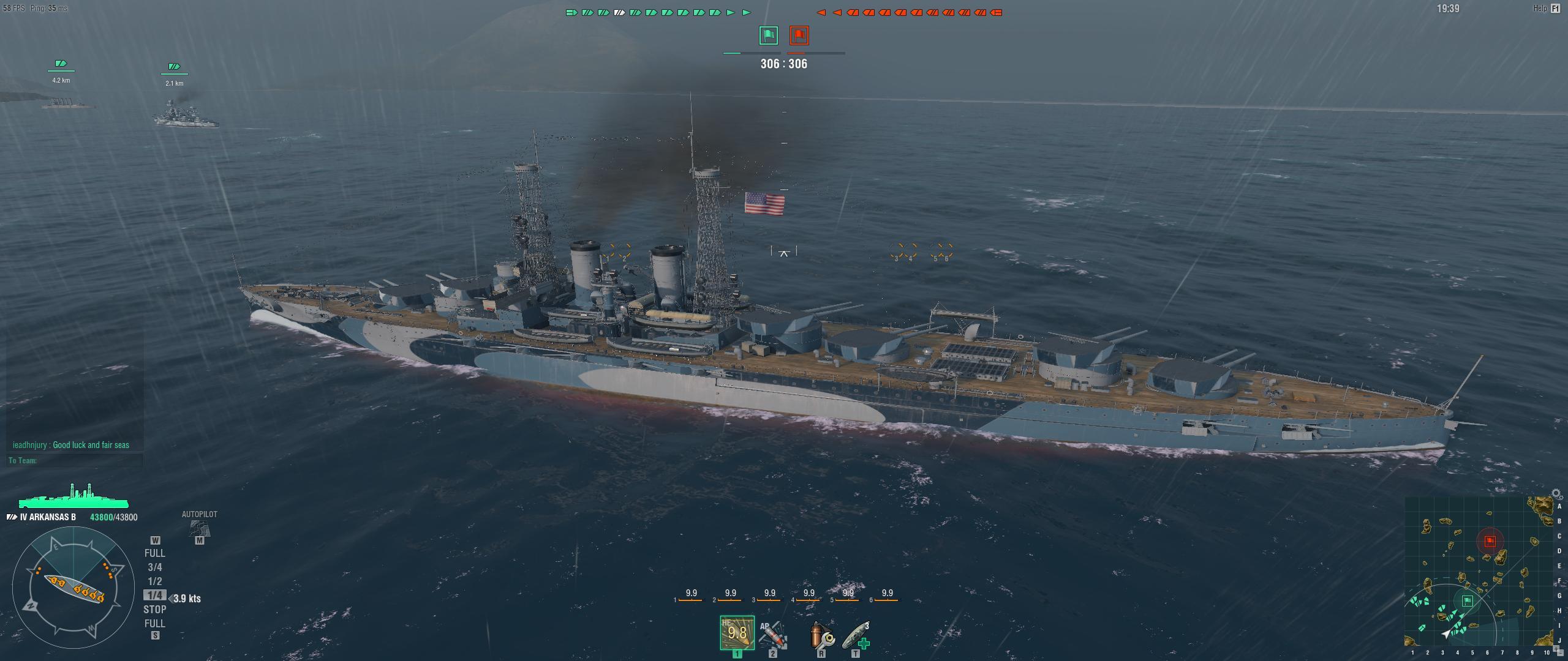 The Arkansas is a World War I dreadnought design.