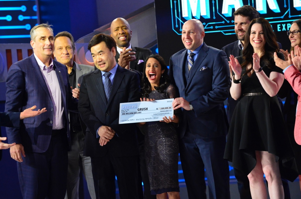 The Grush team gets $1 million at the Intel-sponsored America's Greatest Makers finale.
