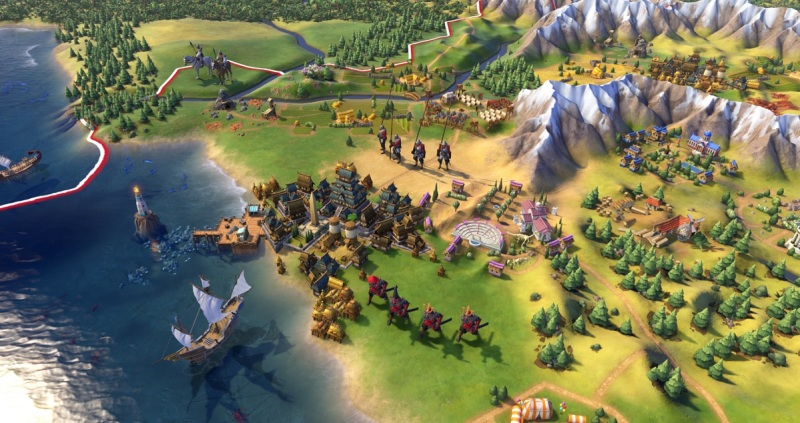 Civilization VI allows you to spread your cities out across the map.