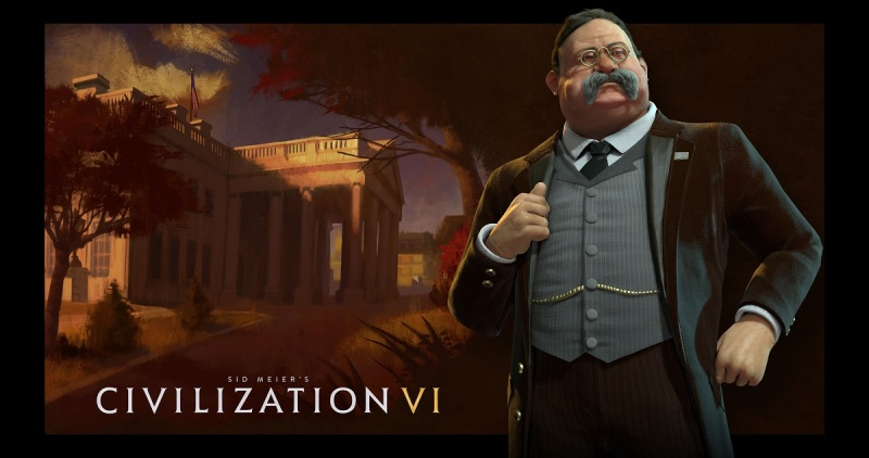 Teddy Roosevelt is one of the leaders in Civilization VI.