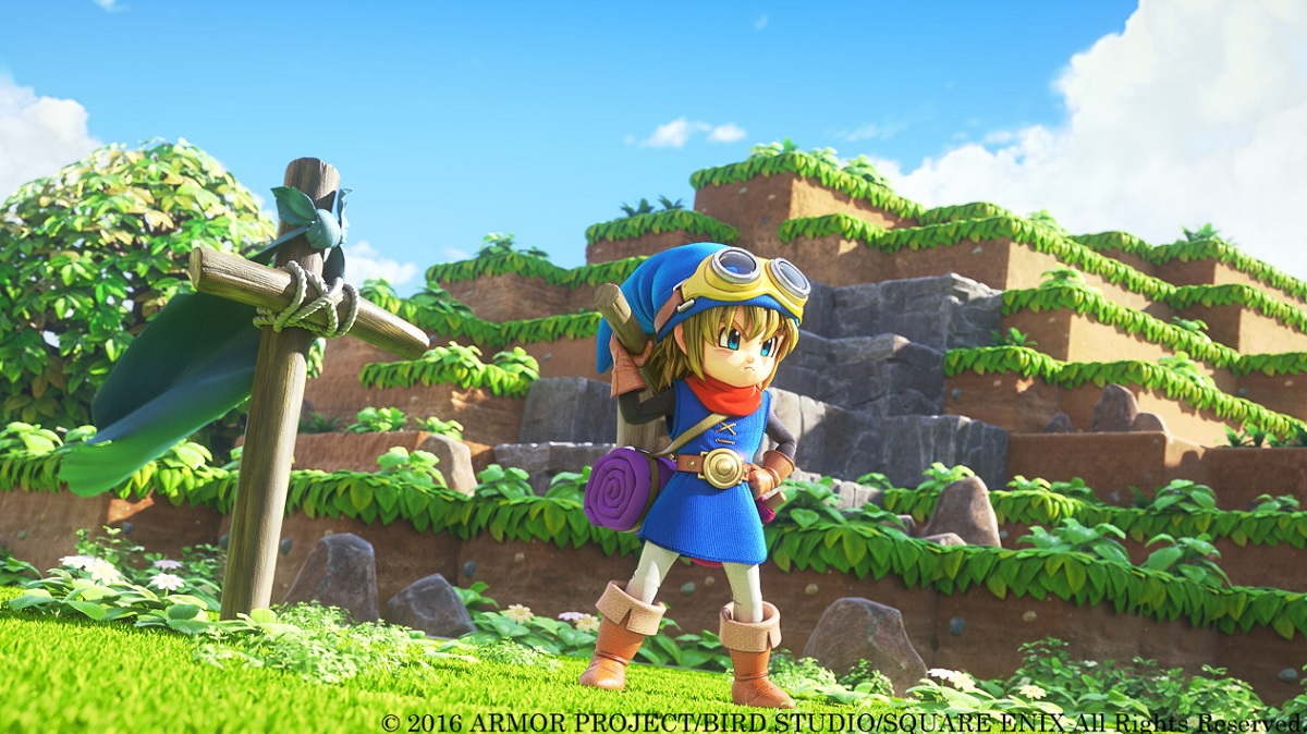 Dragon Quest Builders has a blocky world with realistic characters.