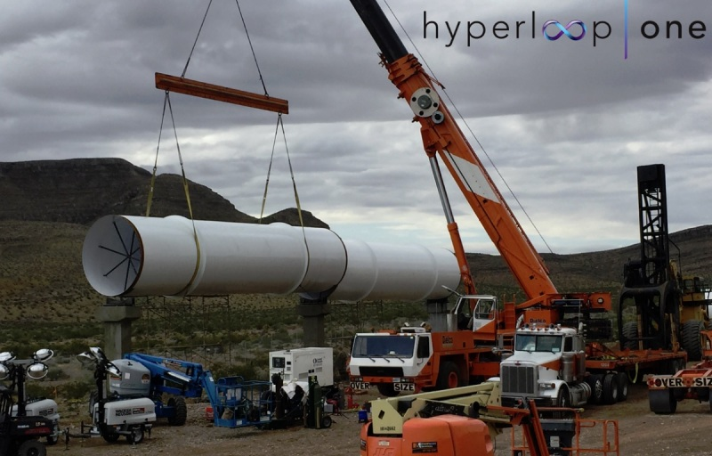 Hyperloop One construction in Las Vegas.