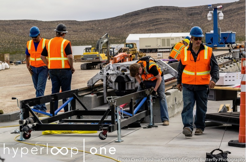 Hyperloop One construction in Las Vegas