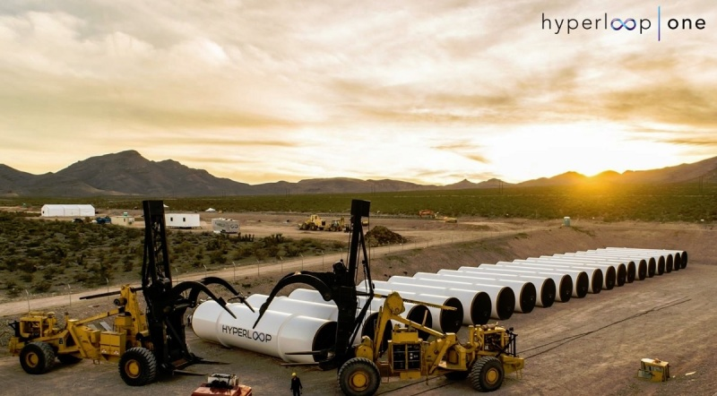 Hyperloop One tubes in Las Vegas.
