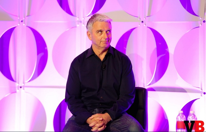 John Riccitiello of Unity makes a face at a question at GamesBeat Summit 2016.
