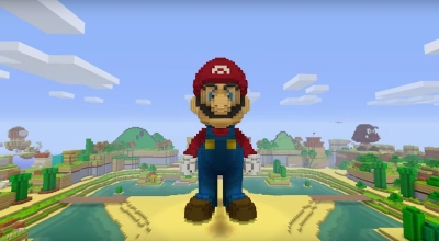mario smashes blocks in minecraft wii u edition in free may 17