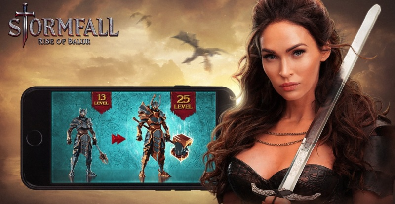 Megan Fox believes that mobile gaming is hot.