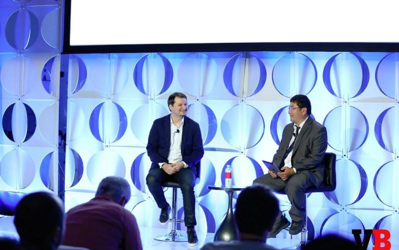 Mihai Pohontu of Samsung and Dean Takahashi at GamesBeat Summit 2016.