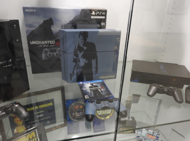 A display for Uncharted 4 at Naughty Dog's headquarters.