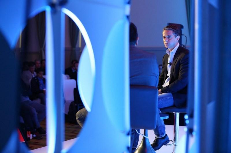 Owen Mahoney, CEO of Nexon, with Dean Takahashi at GamesBeat Summit