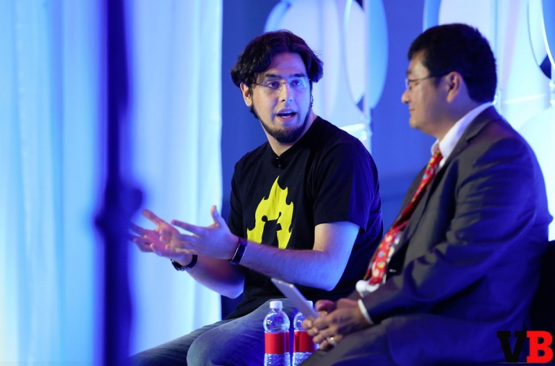Rami Ismail, cofounder of Vlambeer, at the GamesBeat Summit 2016.