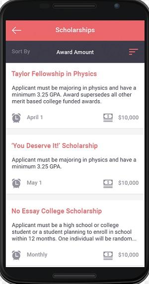 Schoold scholarship info